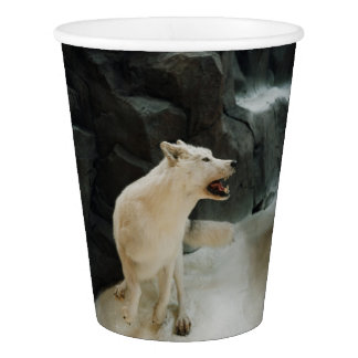 White Wolf Paper Cup