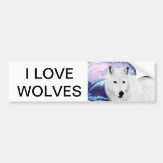 White Wolf Pegatina Para Auto