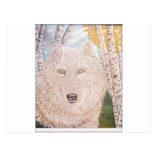 white wolf.PNG White Wolf Postcard