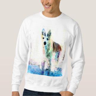 white wolf pullover sweatshirts