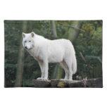 White Wolf salvaje Manteles Individuales