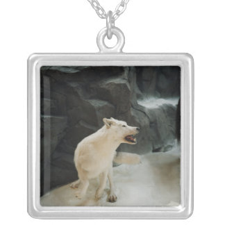 White Wolf Silver Plated Necklace