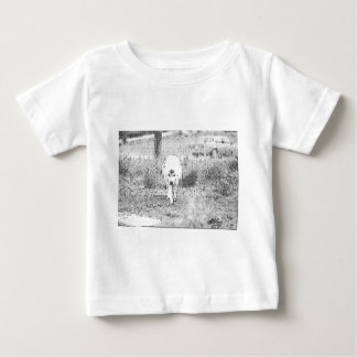 White Wolf Sketch in Pen and Ink Baby T-Shirt
