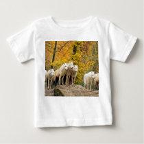 White wolf - snow wolf - wolf animal baby T-Shirt