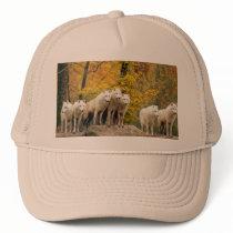 White wolf - snow wolf - wolf animal trucker hat