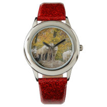 White wolf - snow wolf - wolf animal wristwatch