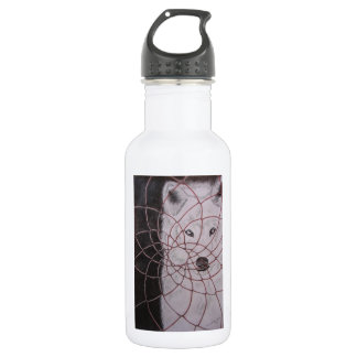 White Wolf Stainless Steel Water Bottle