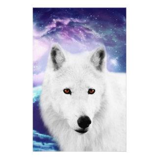 White wolf stationery