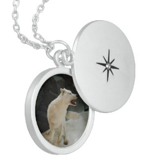 White Wolf Sterling Silver Necklace