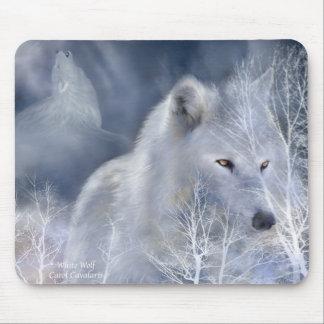 White Wolf Alfombrillas De Raton