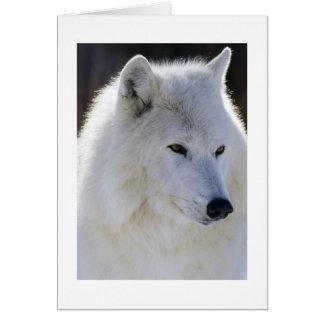 White Wolf Tarjeta De Felicitación