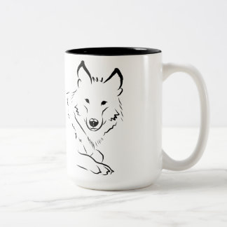 White Wolf Two-Tone Coffee Mug