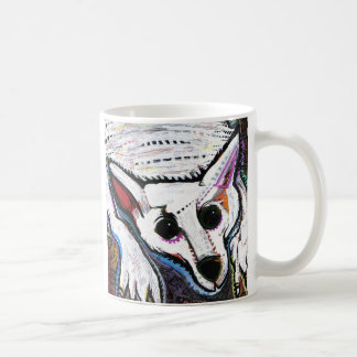 White Wolf (under the bed) Coffee Mug