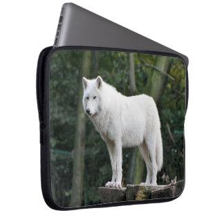 White Wolf Wildlife Laptop Sleeve