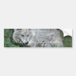 White Wolf Wildlife Supporter Bumper sticker