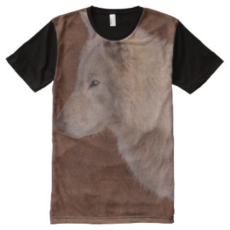 White Wolf Wildlife Supporter Gift All-Over Print Shirt