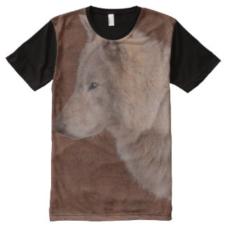 White Wolf Wildlife Supporter Gift All-Over-Print T-Shirt
