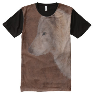 White Wolf Wildlife Supporter Gift All-Over Print T-shirt