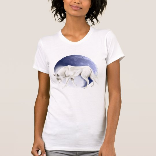 White Wolf with Half Moon T-Shirt