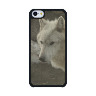 White Wolf Carved® Maple iPhone 5C Slim Case