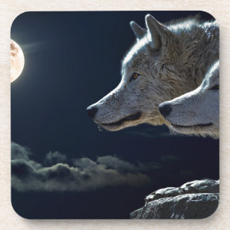 White Wolves in the Full Moon Coaster