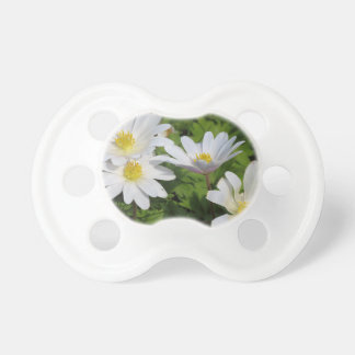White Wood Anemone BooginHead Pacifier