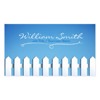 White Wood Business fence card Double-Sided Standard Business Cards (Pack Of 100)