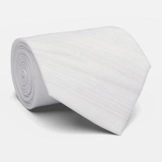 White Wood Grain Texture Neck Tie