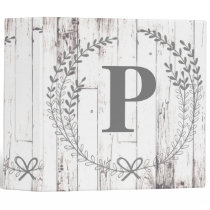 White Wood Rustic Farmhouse Shabby Chic Custom 3 Ring Binder