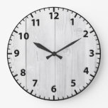 White Wood Shabby Chic Acrylic Wall Clock