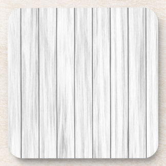 White wooden wall texture coaster