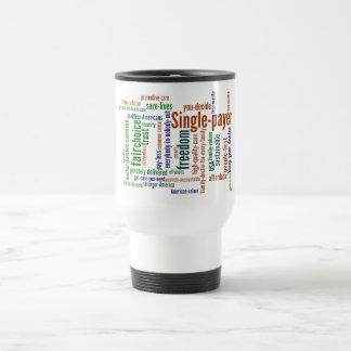 White Word Cloud Travel Mug
