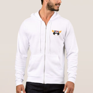 White Workout pointed hood Hoodie