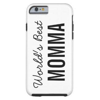 White World's Best Momma Custom iPhone 6 Case