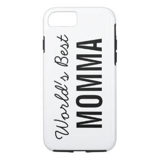 White World's Best Momma Custom iPhone 7 Case