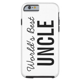 White World's Best Uncle Custom iPhone 6 Case