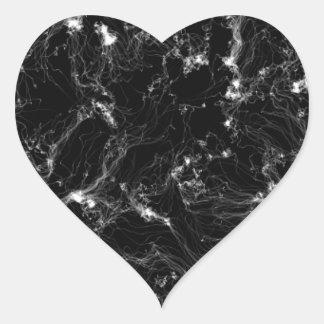 WHITE WORM MILKY WAY GALAXY NEBULA FANTASY SCIENCE HEART STICKER