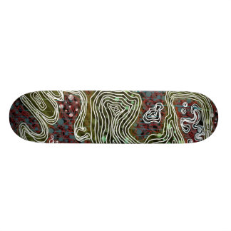 White worm skateboard deck