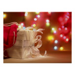 White Wrapped Christmas Poster