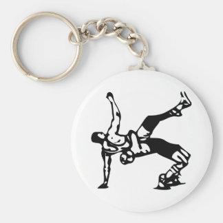 White Wrestling Keychain