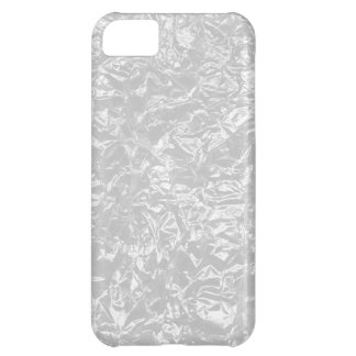 white wrinkle foil iPhone 5C case
