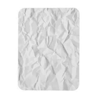 White wrinkled paper texture magnet