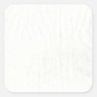 White Wrinkles Square Sticker