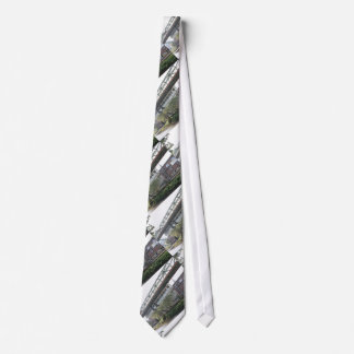 White Wuppertal Floating Train Schwebebahn Vorwerk Neck Tie