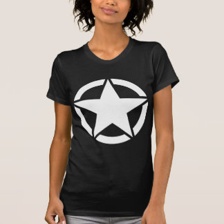 White WWII Jeep Star - Segmented T-Shirt