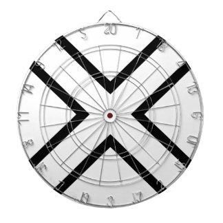 White X Cross Dart Board