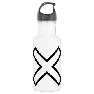White X Cross Water Bottle
