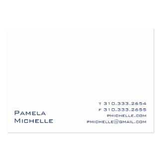 White XIII Large Business Card