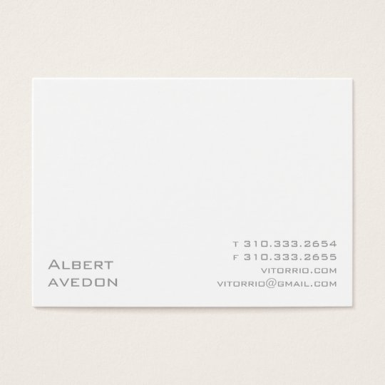 White XIP Business Card