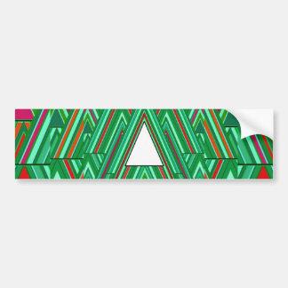 White Xmas Tree Bumper Stickers